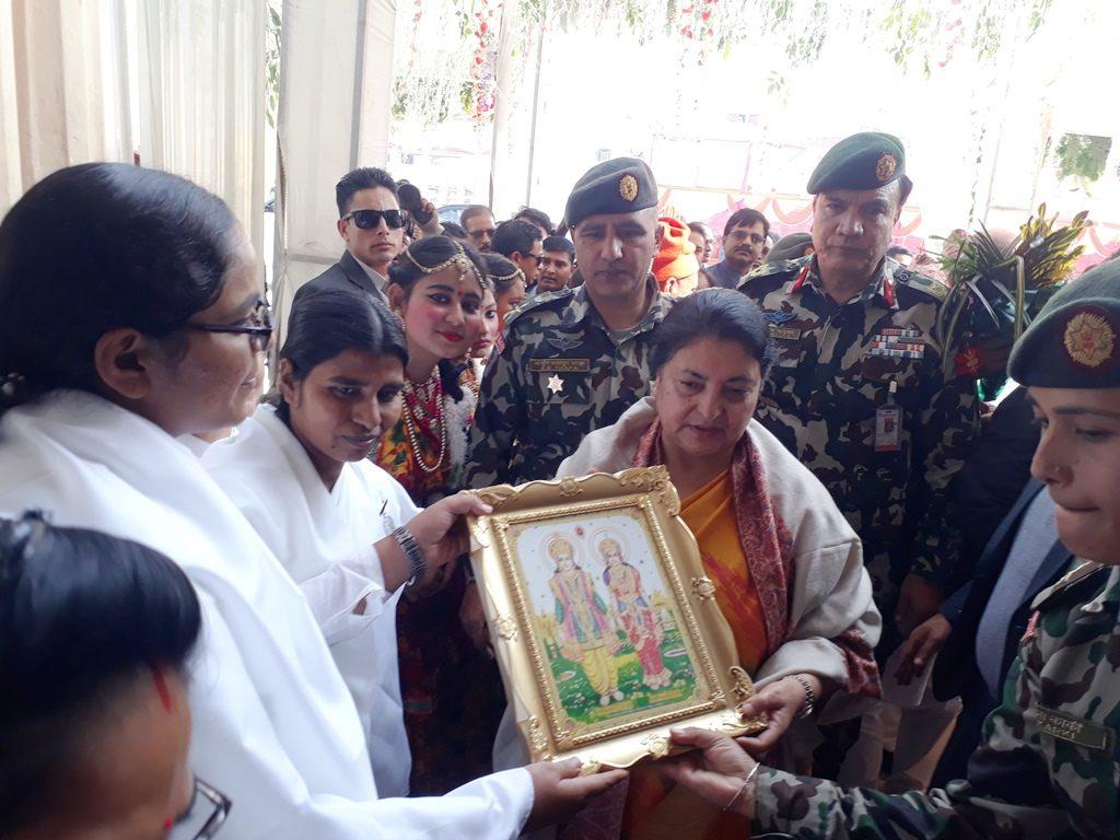Janakpur (Nepal) - Meeting With Mrs. Vidya Devi Bhandari, the President of Nepal